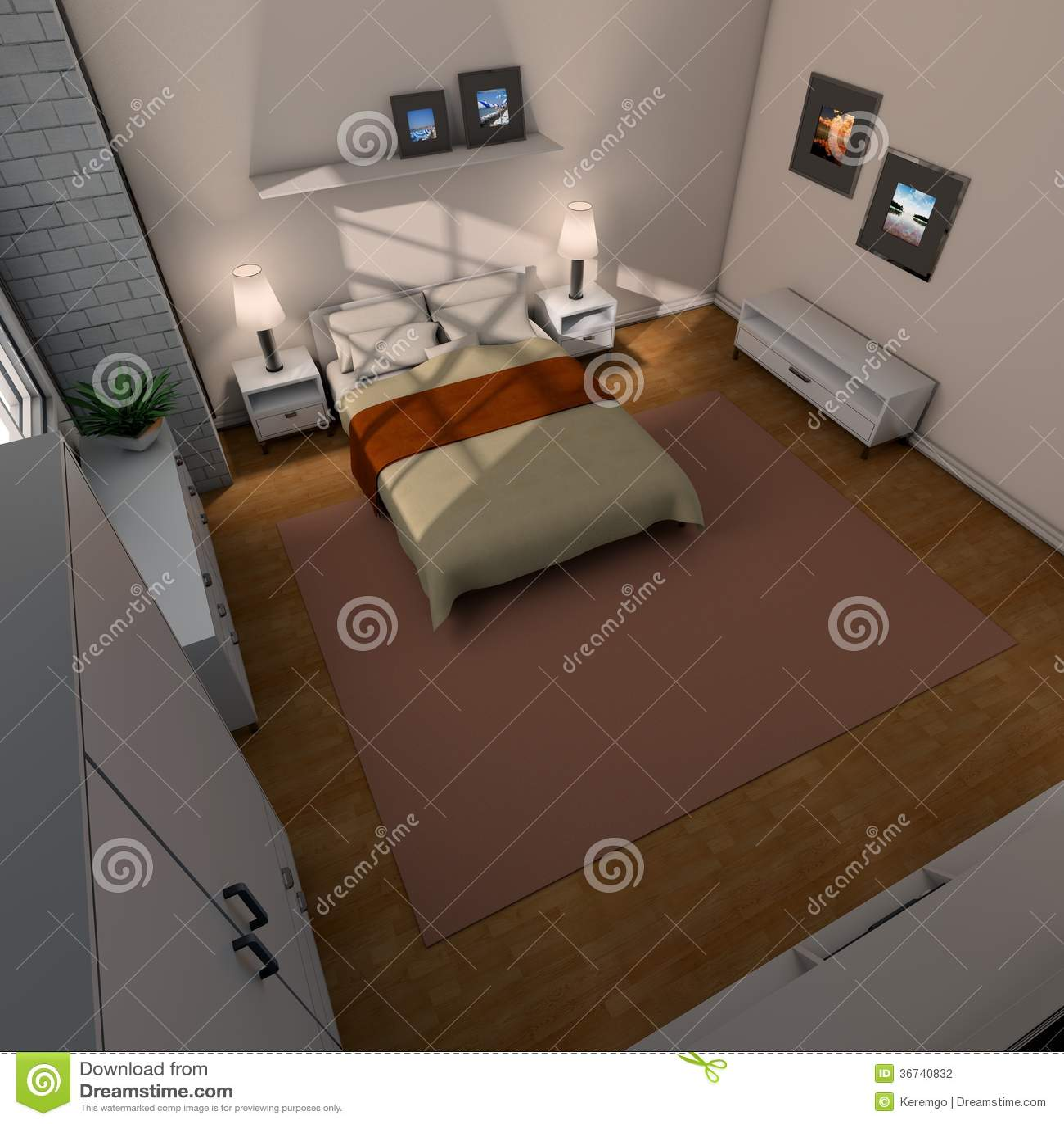 Bedroom Above Stock Illustration Illustration Of Camera 36740832
