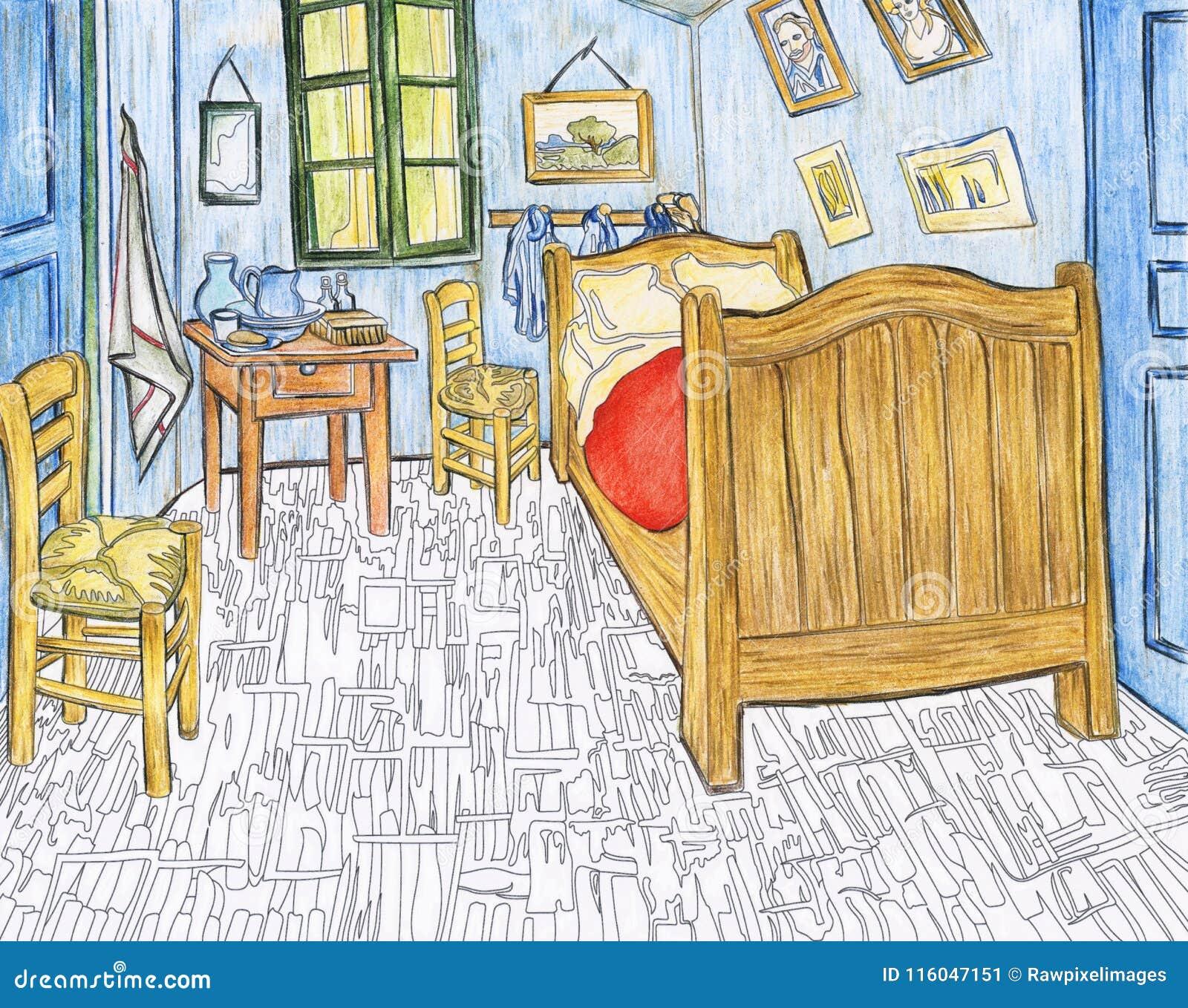 Bedroom In Arles 1888 By Vincent Van Gogh Editorial Photo