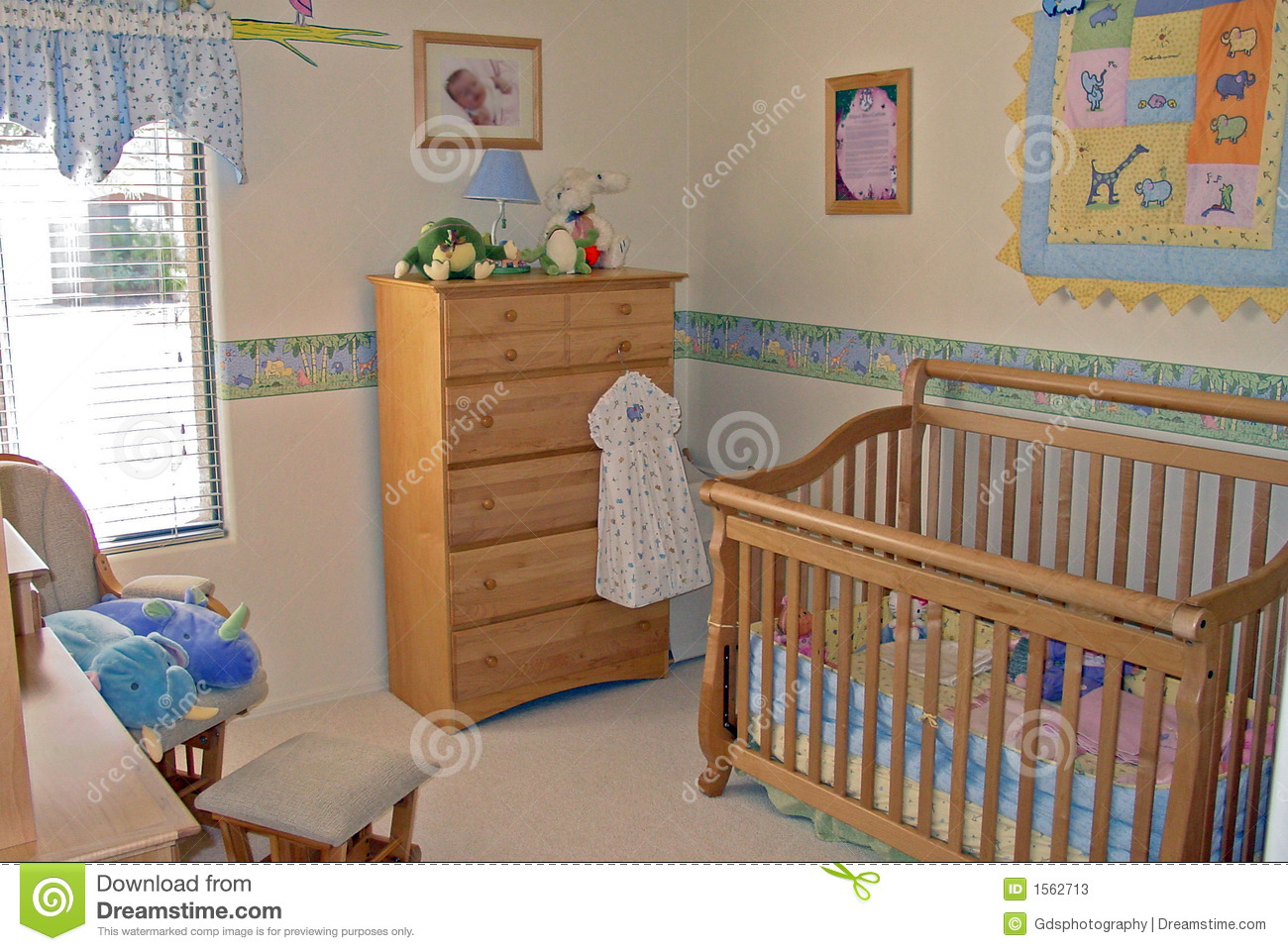 Bedroom Baby S Room Stock Image. Image Of Rocker, Design - 1562713
