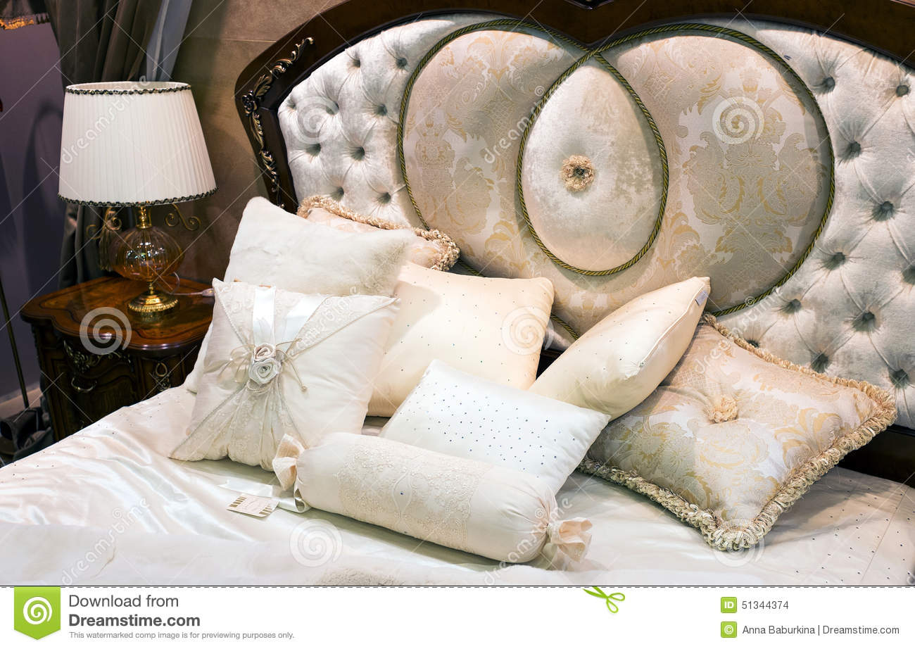 Bedroom with bed in baroque style stock photo image 51344374 - Beautiful snooze bedroom suites packing comfort in style ...
