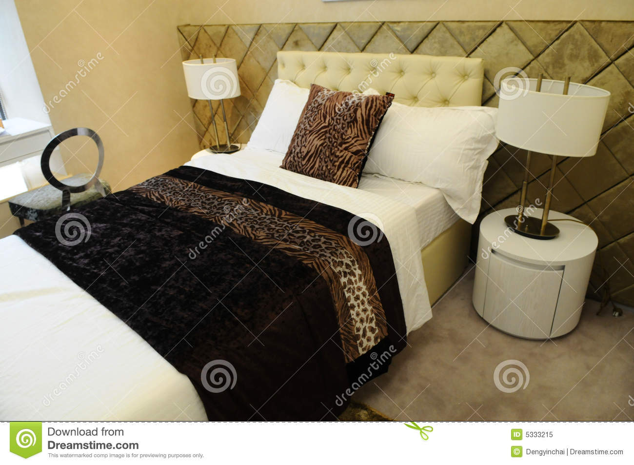 The bedroom fitments stock image. Image of hotel, furniture - 5333215