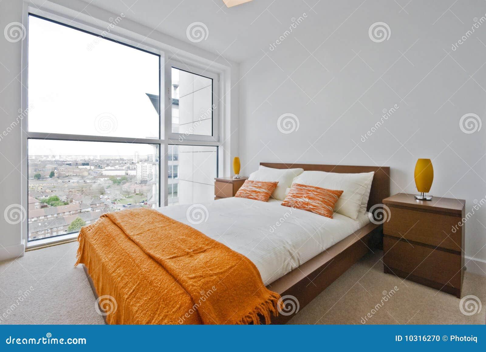 Bedroom with floor to ceiling windows stock photo image for Cost of floor to ceiling windows