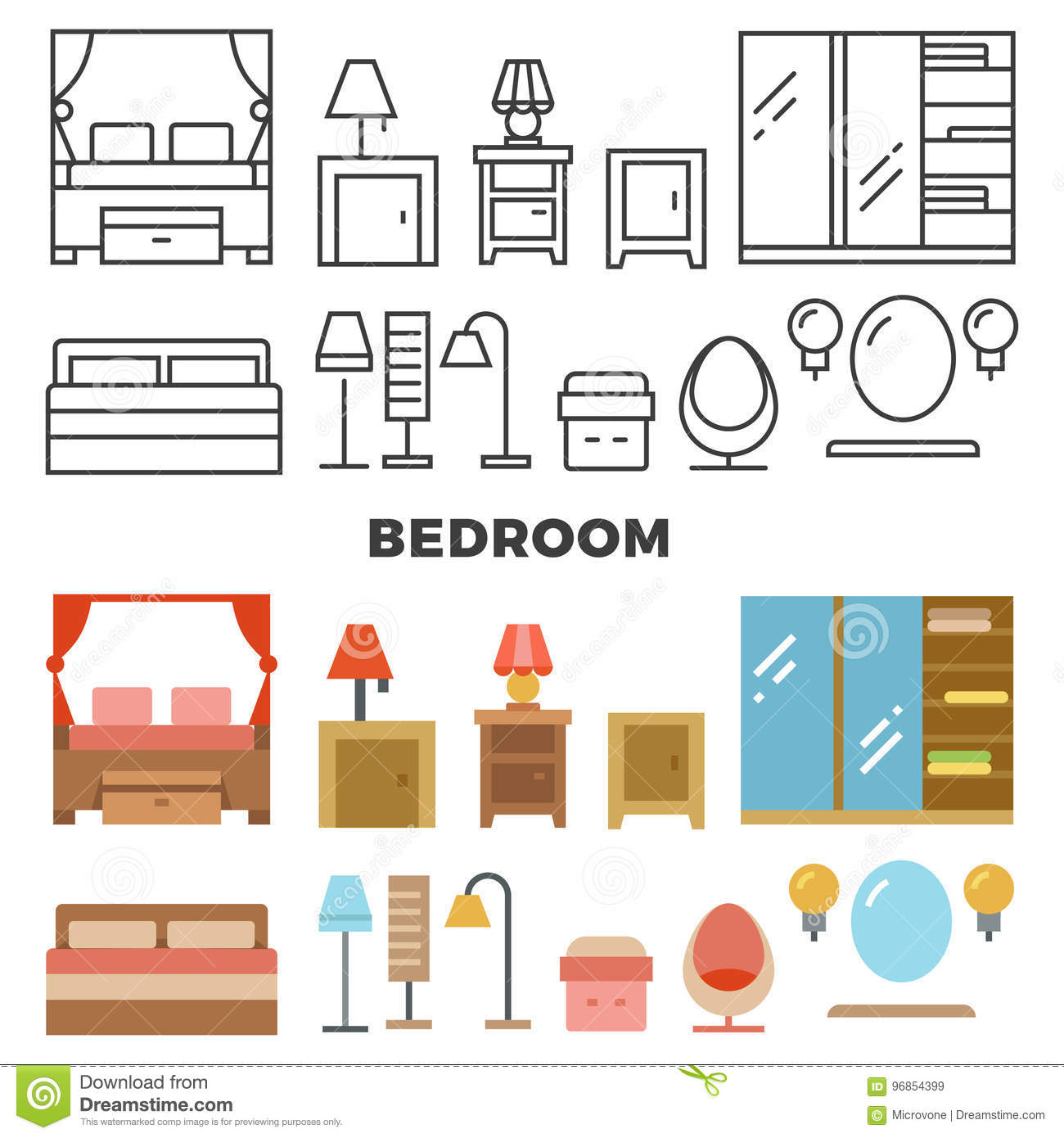Bedroom Furniture And Accessories Collection - Flat ...