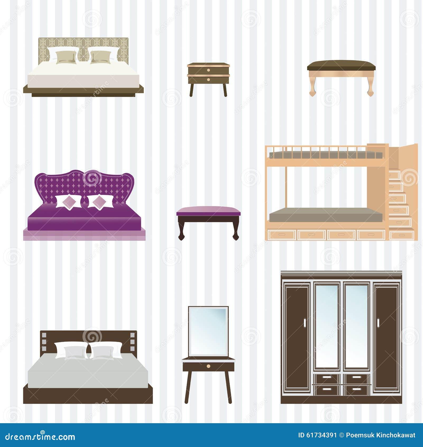 Concept Interior Design Furniture ~ Bedroom furniture design stock illustration image