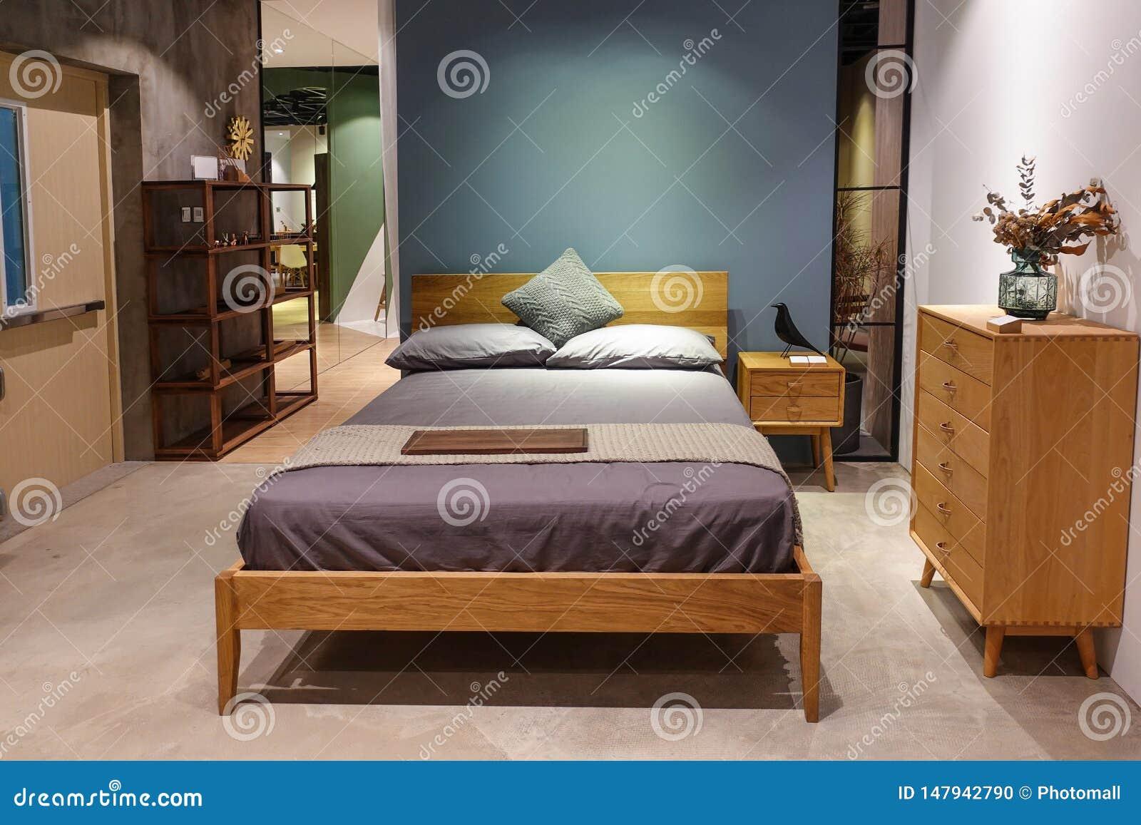 Bedroom Furniture In Houseroom Stock Photo - Image of empty ...