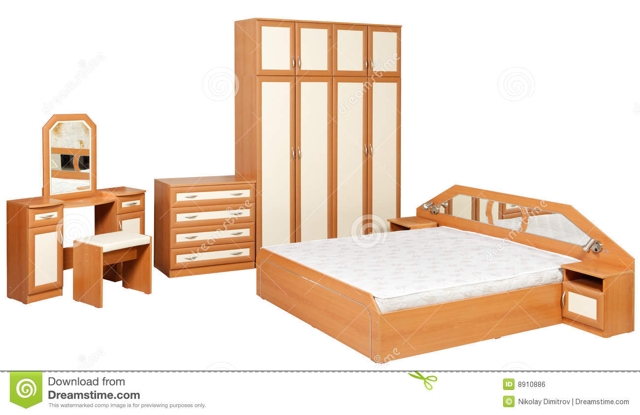 Bedroom Furniture Isolated Royalty Free Stock Image Image 8910886