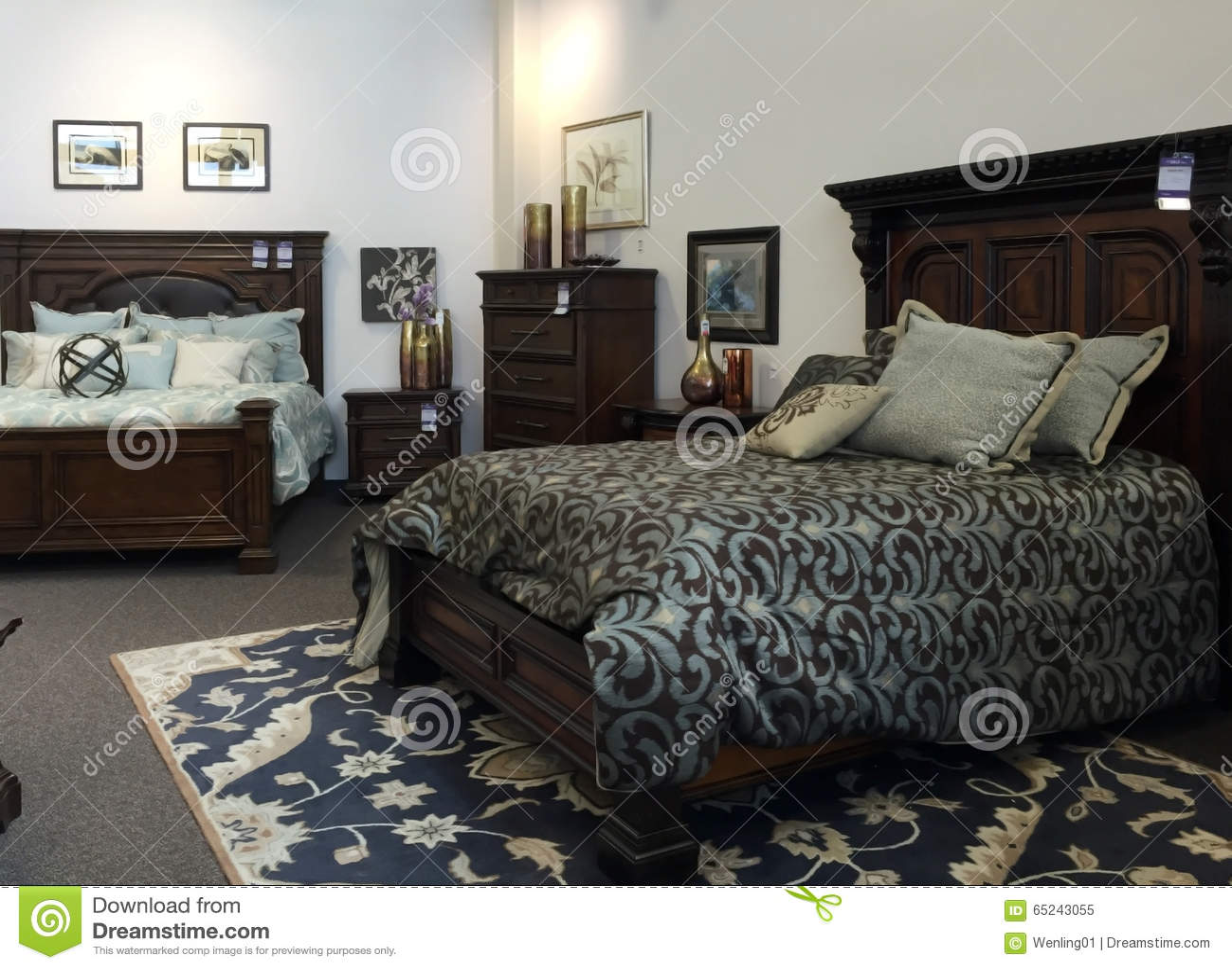 Selling Bedroom Furniture Bedroom Furniture Selling At Furniture Market Editorial Image