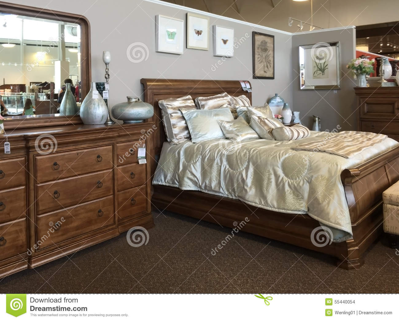 Bedroom furniture selling editorial stock image image for Places to sell furniture online