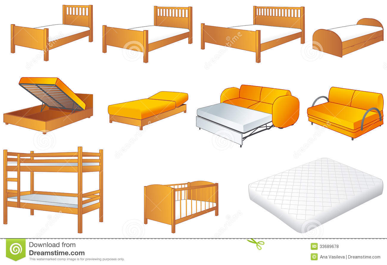 ... , sofa, unfolded sofa-bed, platform storage bed, bunk-bed, mattress