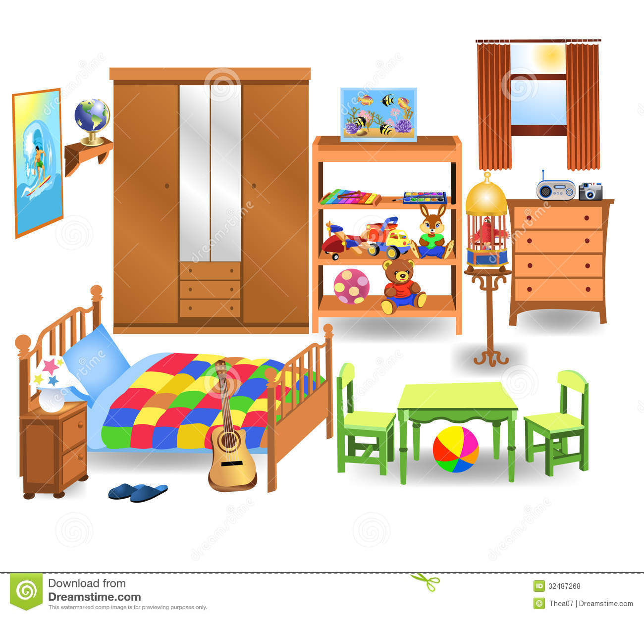 Bedroom furniture stock photo. Image of globe, drawers - 32487268