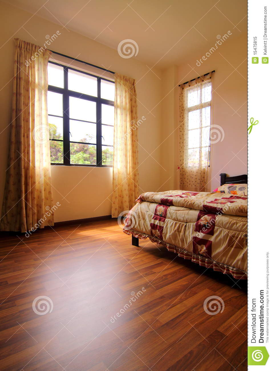 Bedroom With Hardwood Flooring Stock Image Image Of Feng Blanket 15475815