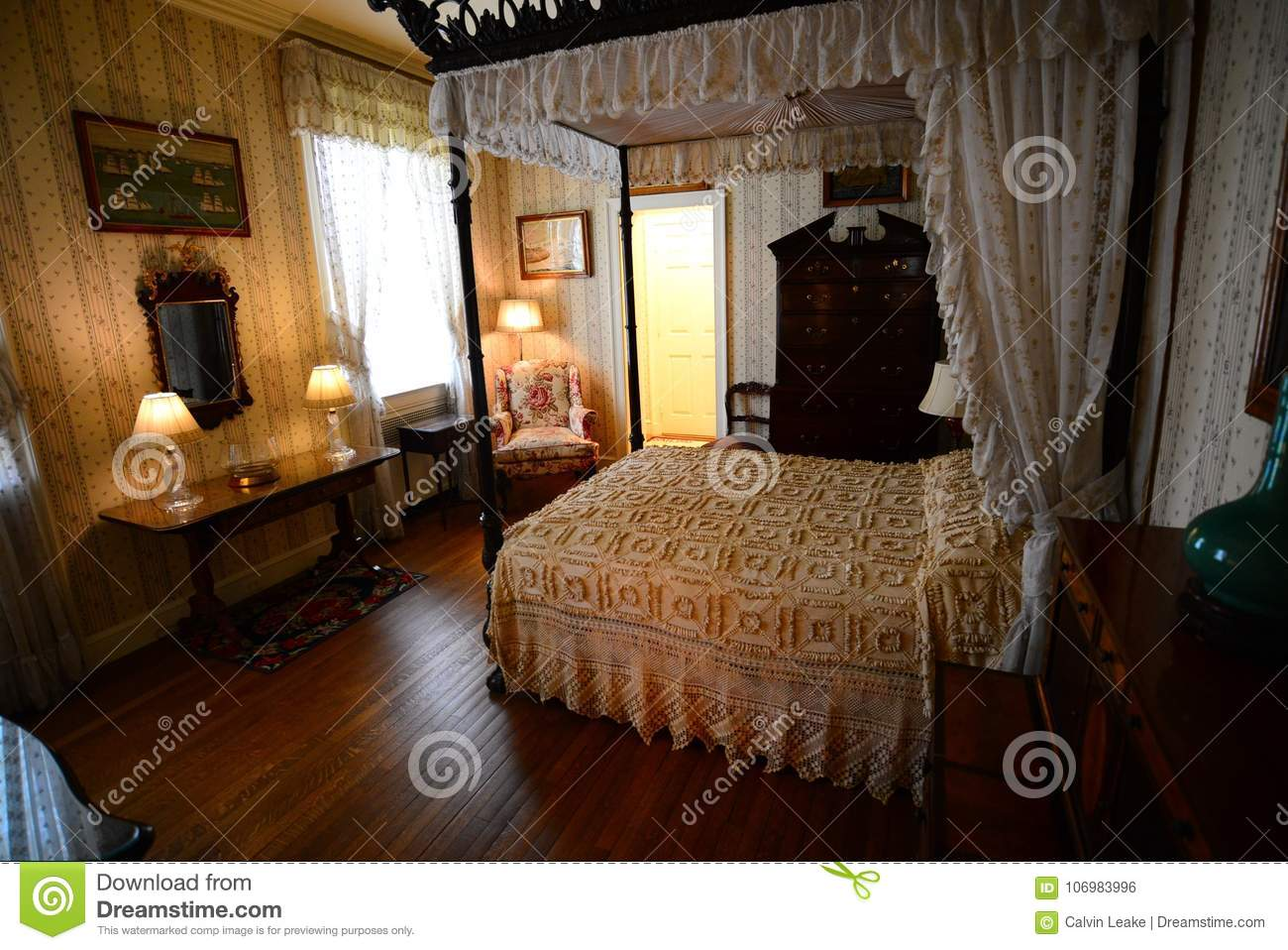 Bedroom At Hillwood Estate, Museum And Gardens Editorial Photo ...