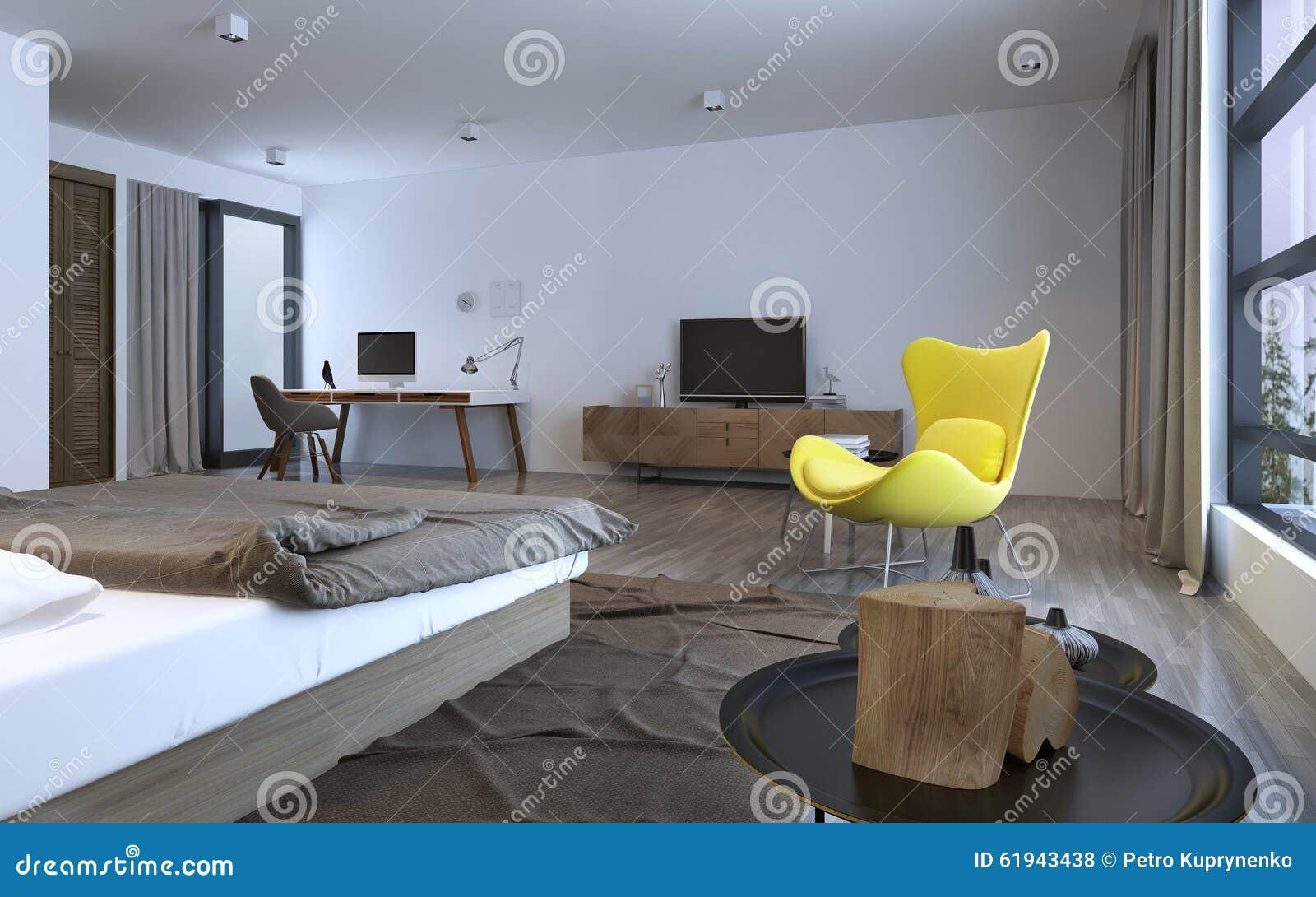 Bedroom Idea Minimalist Interior Stock Illustration