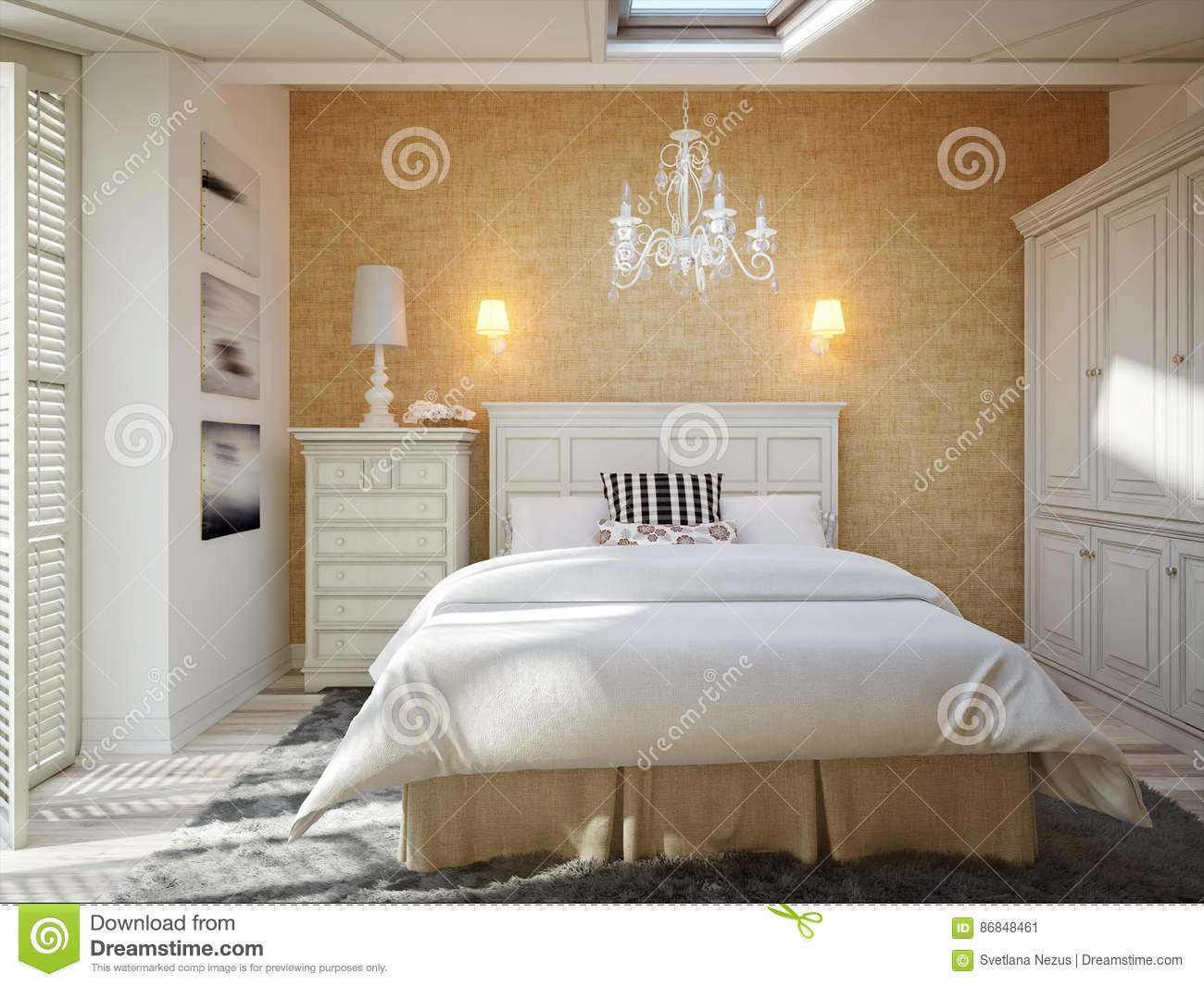 Beautiful cozy traditional style bedroom decor royalty free stock photo - Beautiful snooze bedroom suites packing comfort in style ...