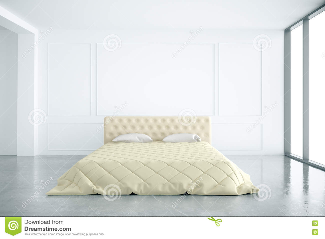 Bedroom Interior Front Stock Illustration Image 72548536