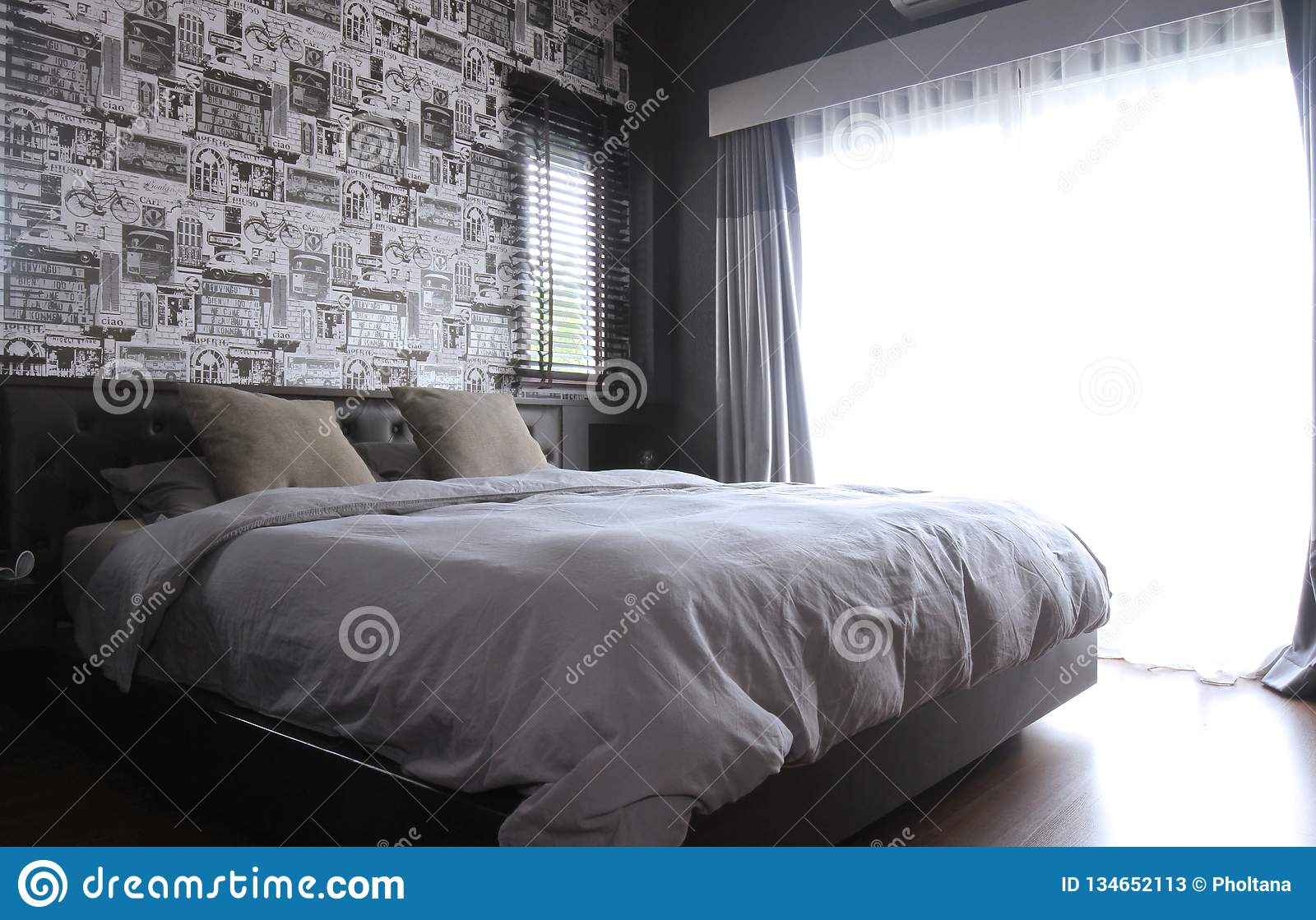 Bedroom Interior ,modern Contemporary Style Stock Image ...