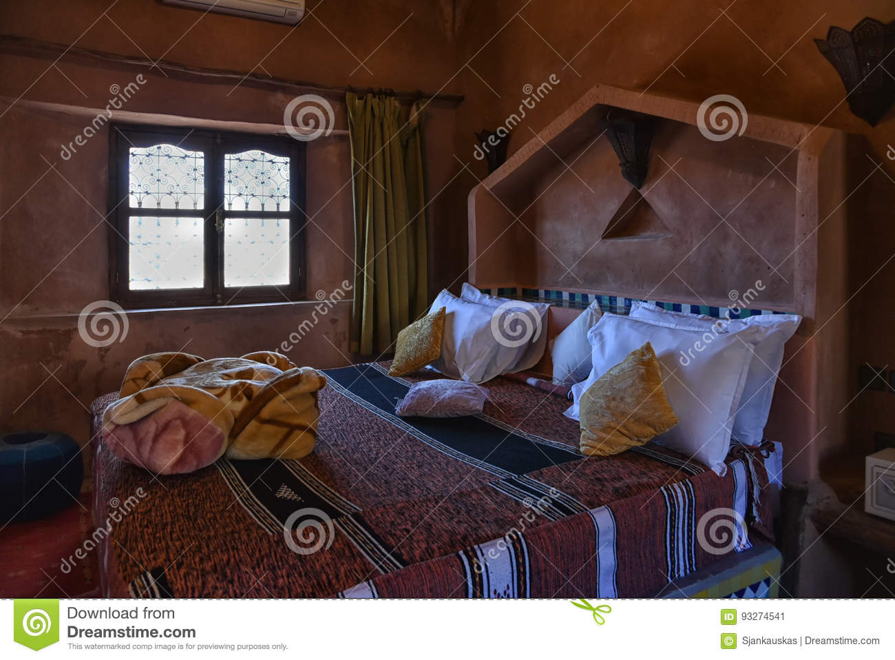 Cool Bedroom Interior Traditional Design In Morocco Stock Image Download Free Architecture Designs Scobabritishbridgeorg