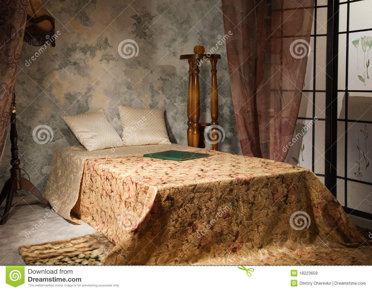 Bedroom interior in the vintage style royalty free stock images image 1822 - Vintage style images ...