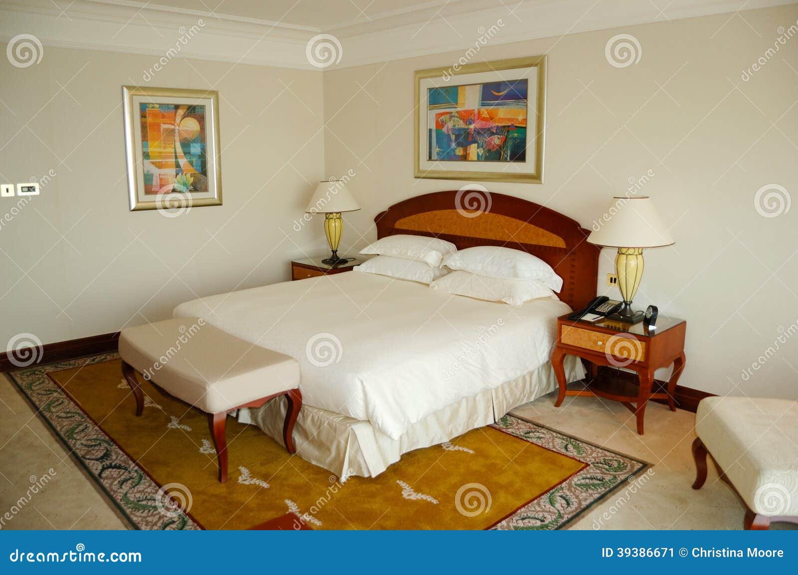 Bedroom In Luxury Hotel Dubai Uae Editorial Photo Image Of