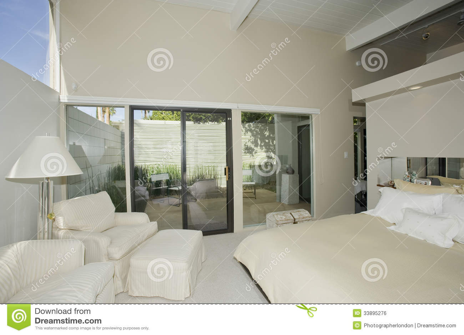 Bedroom in Modern Home
