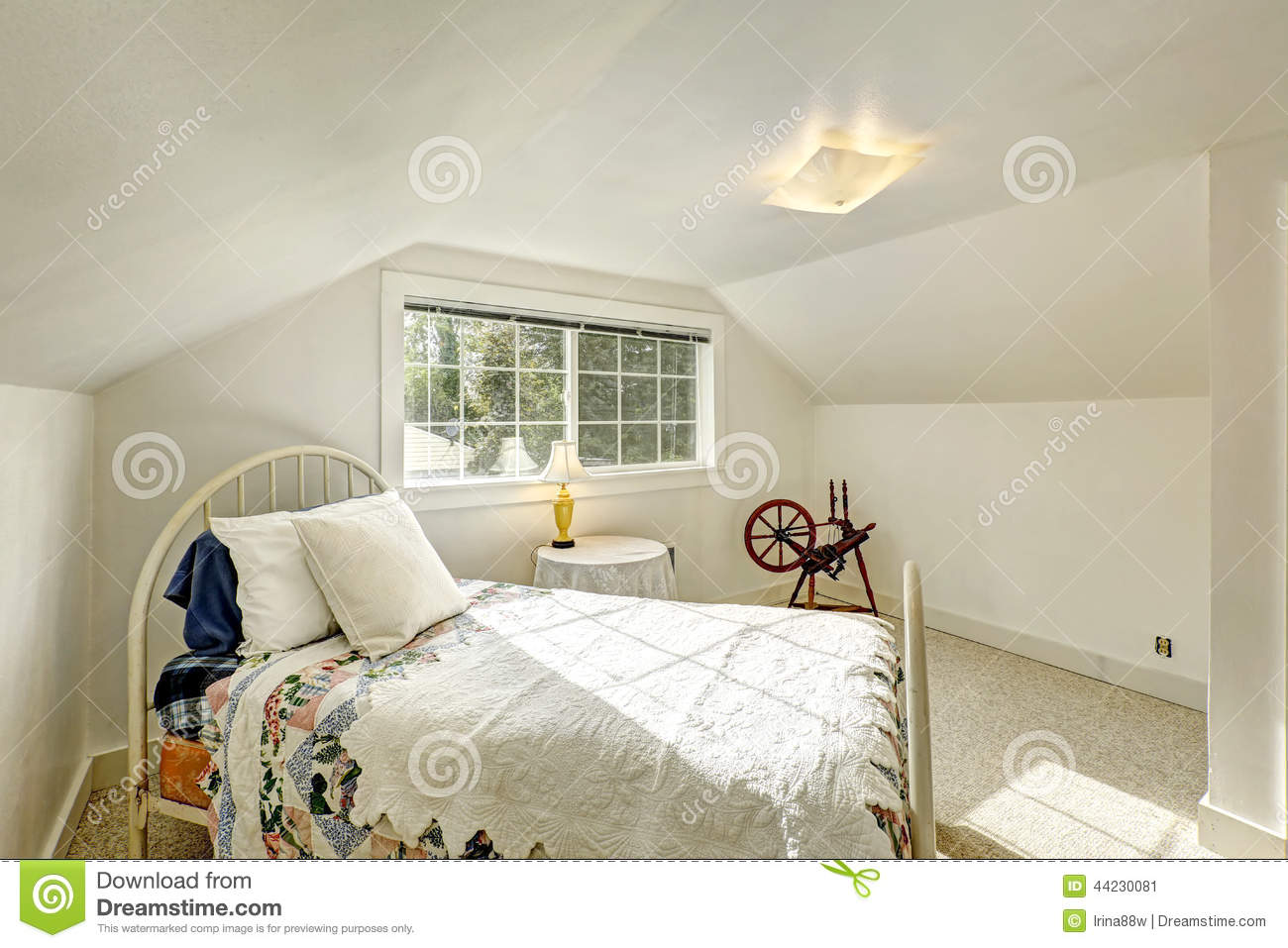 Old Fashioned Bedroom Old Fashioned Bedroom With Iron Frame Bed Stock Photo Image