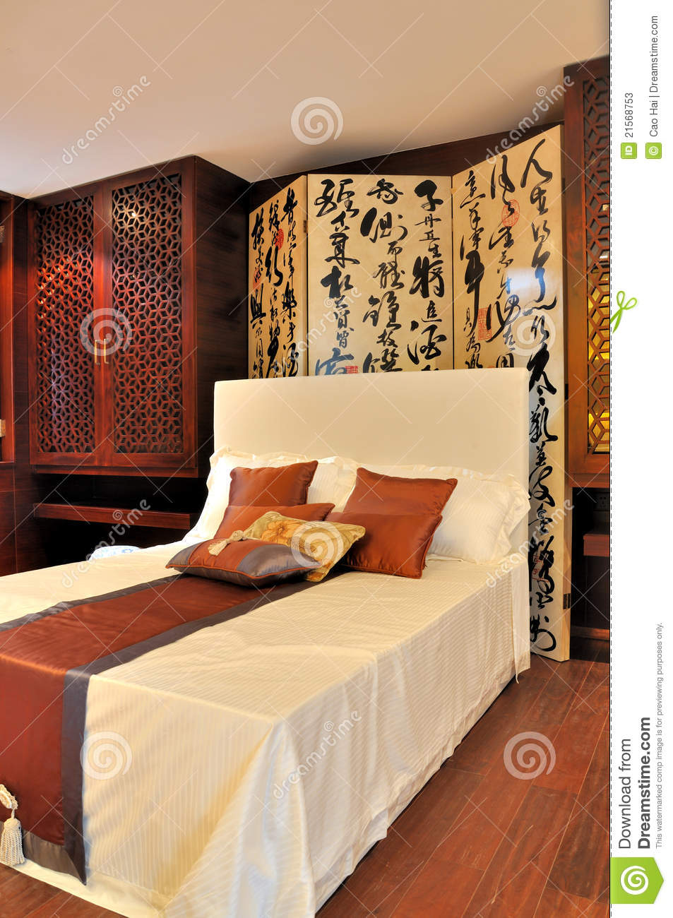 Oriental style bedroom stock image - Chambre style oriental ...