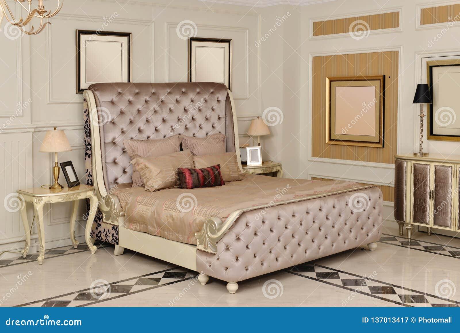 Bedroom Room Furniture In Luxury House Stock Image - Image ...