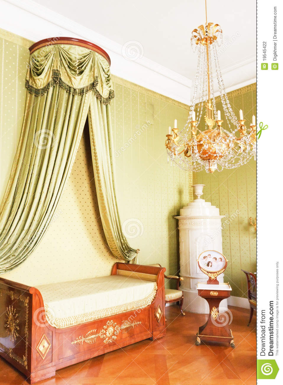 Bedroom With Royal Canopy Bed Stock Photography Image