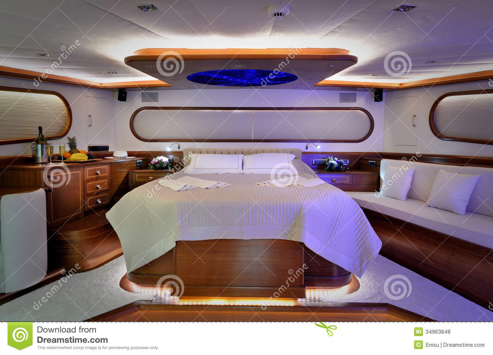 Bedroom Of Sailboat Stock Photo Image Of Sailboat Decoration 34963848