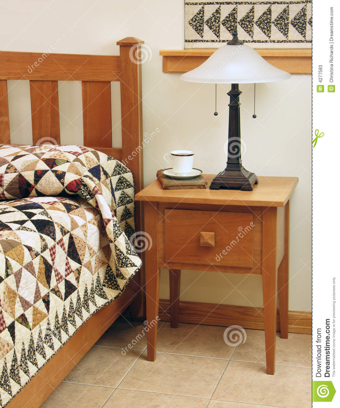 Bedroom With Shaker-style Furniture Stock Image - Image: 4277583