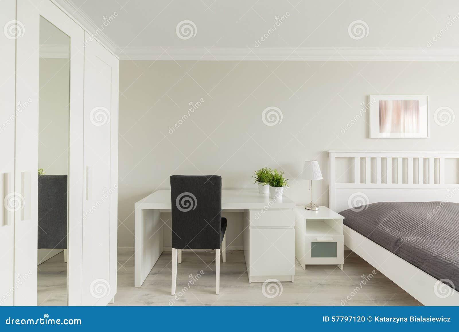 Bedroom with study area stock photo image 57797120 - Camera da letto e studio ...