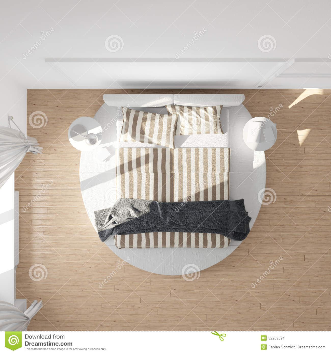 Bed design top view image - Royalty Free Stock Photo Download Bedroom Top View