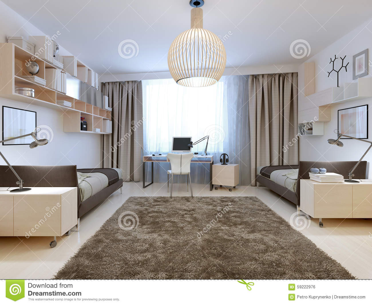 bedroom for two tenagers contemporary style stock photo image of rh dreamstime com
