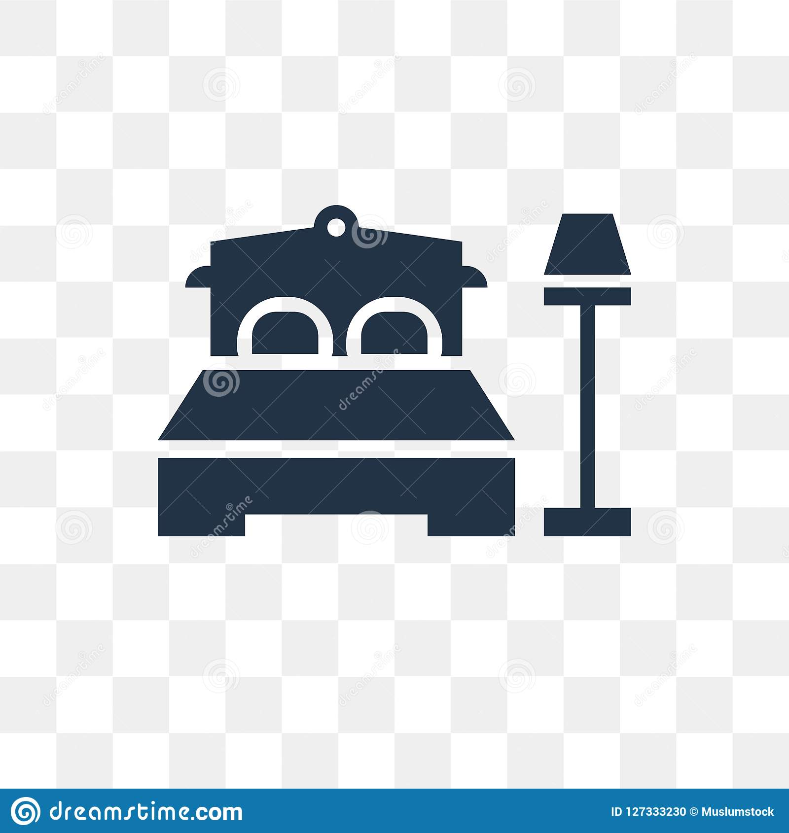 Bedroom Vector Icon Isolated On Transparent Background Bedroom