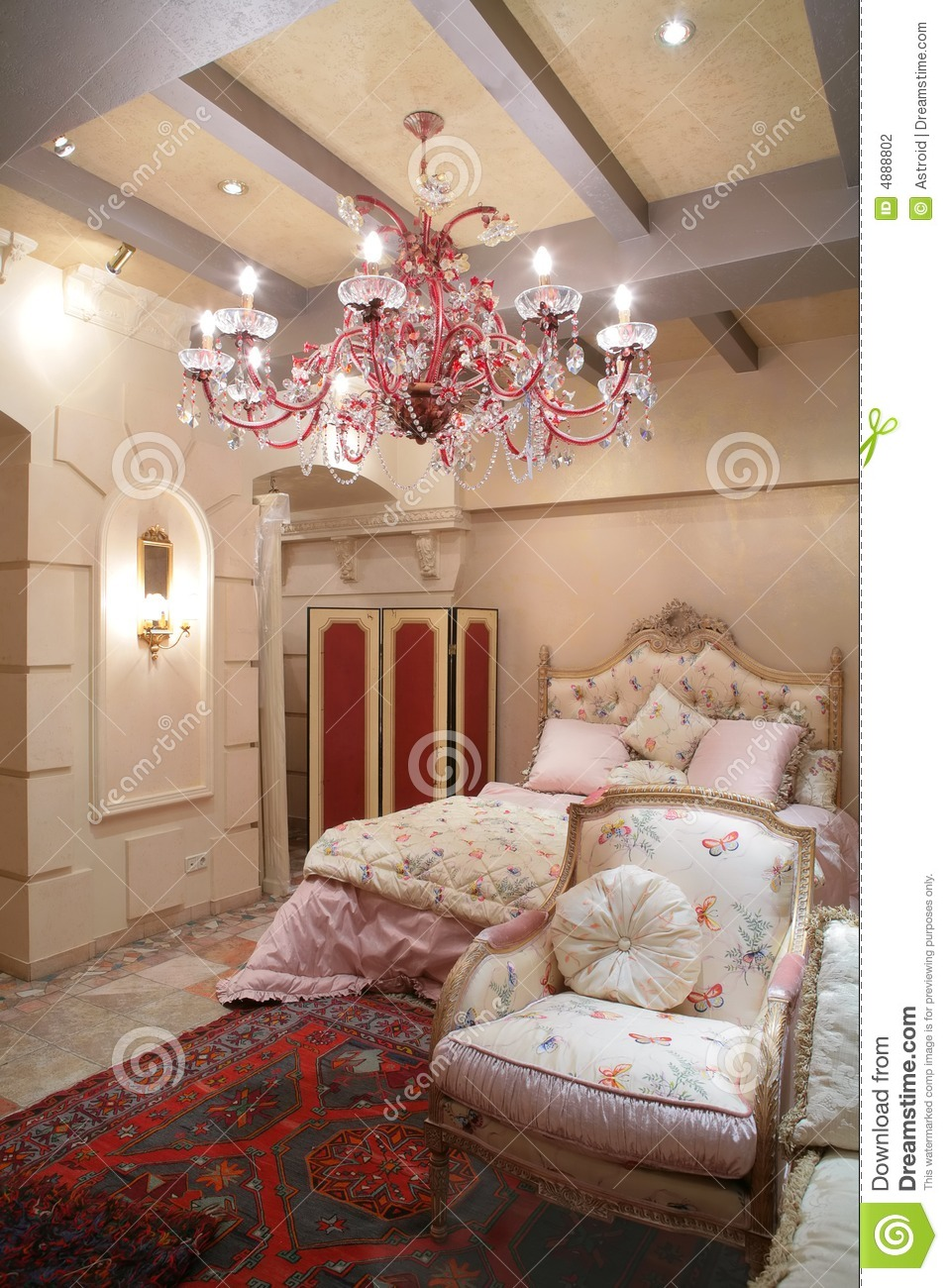bedroom in vintage style stock photography image 4888802