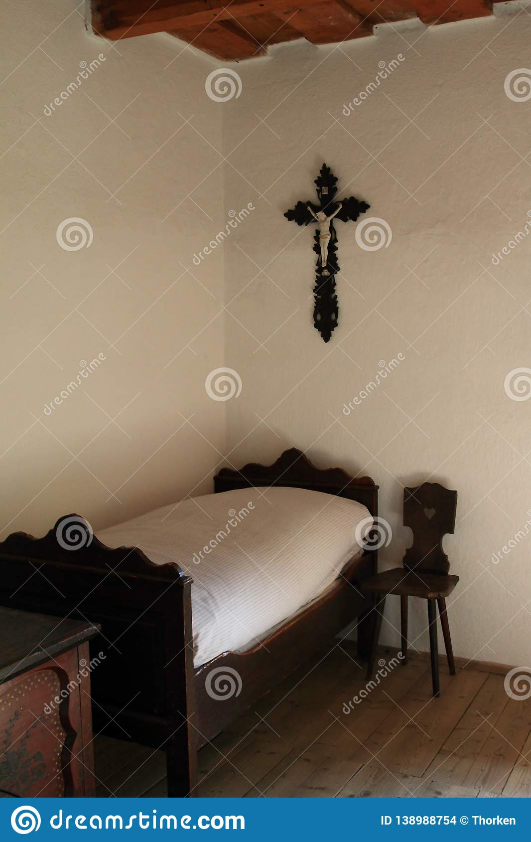 Fine Bedroom In Wallachian Open Air Museum Stock Photo Image Of Pabps2019 Chair Design Images Pabps2019Com