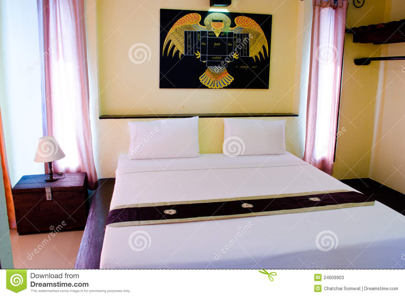 Bedrooms are comfortable stock photos image 24609903 for Well decorated bedroom
