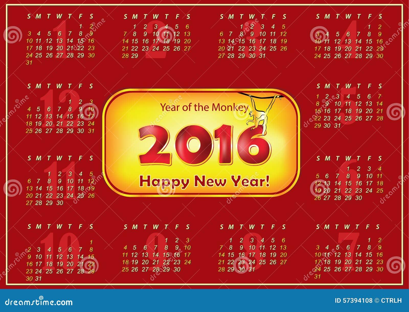 Bedruckbarer Kalender 2016