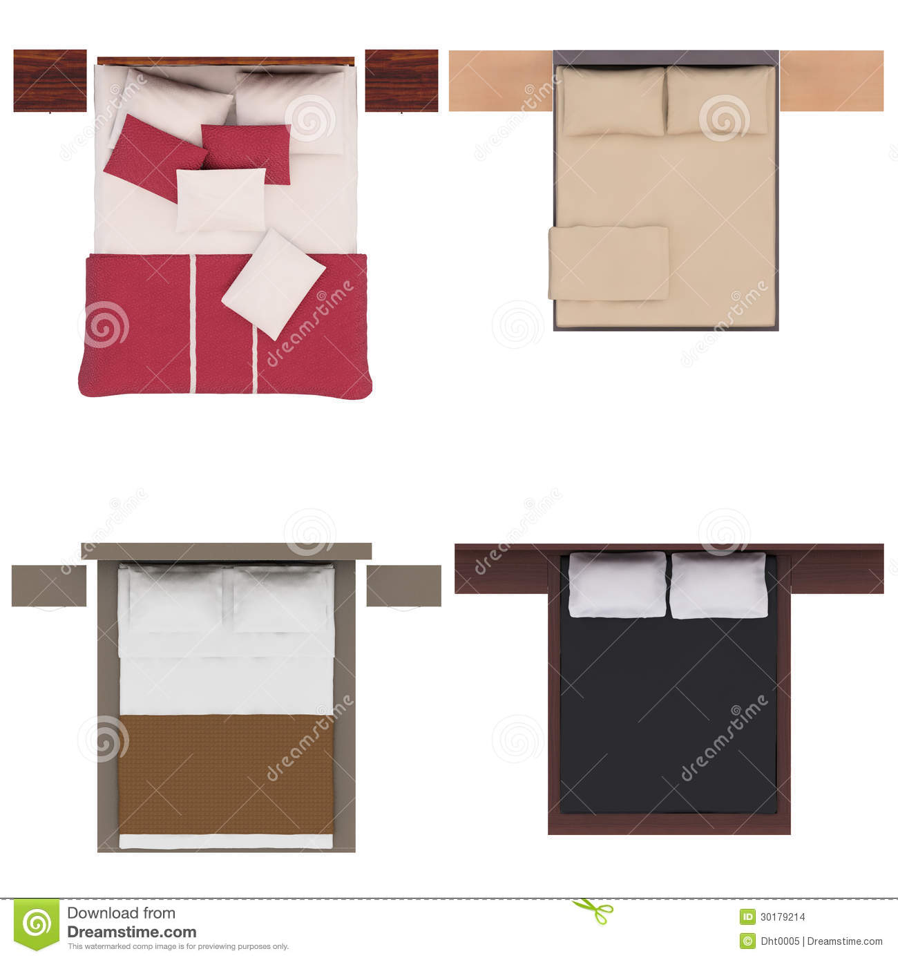 single bed top view. Single Bed Top View Plan