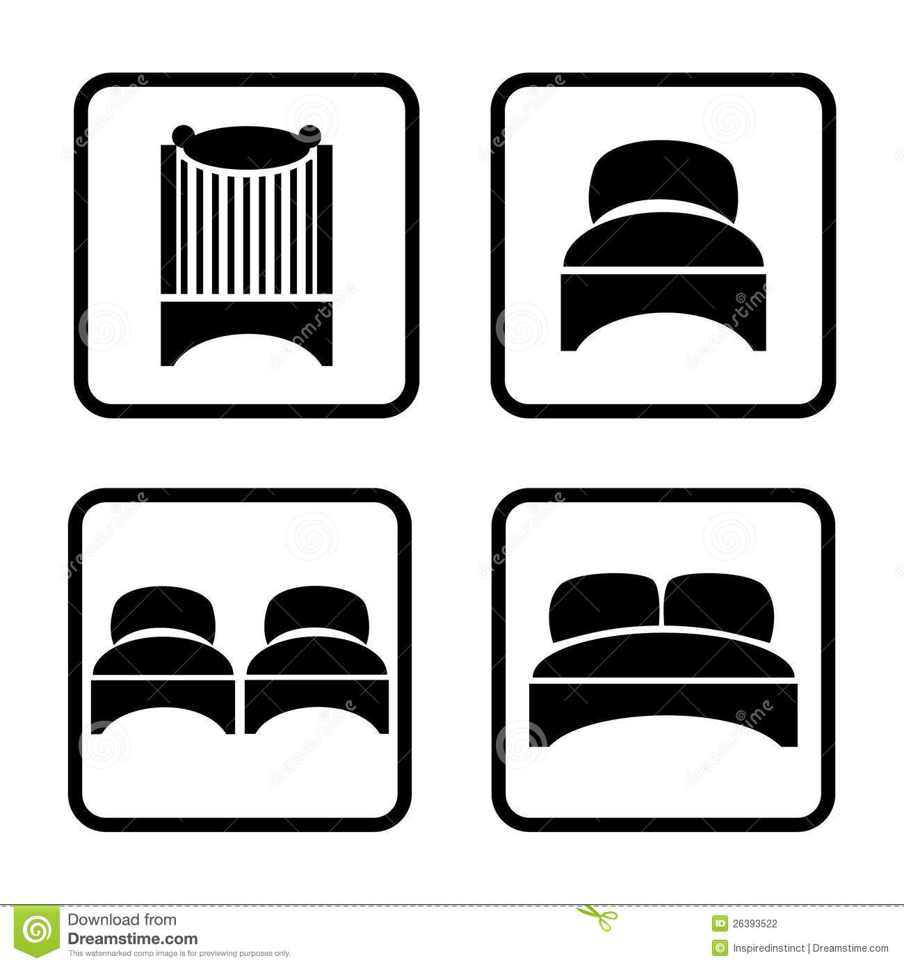 Beds Icon Set Stock Photography Image 26393522