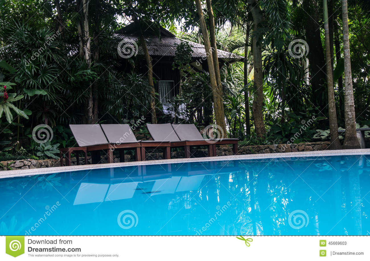 Beds on swimming pools stock photo image 45669603 for Swimming pool bed