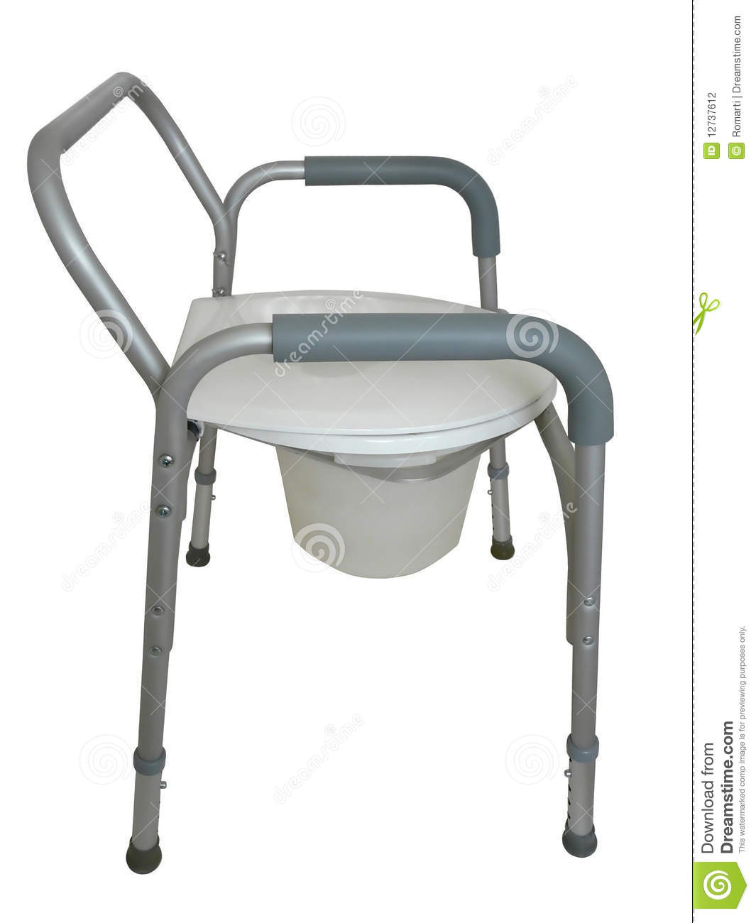 Bedside Commode, Shower Chair Stock Photo - Image of bedside ...