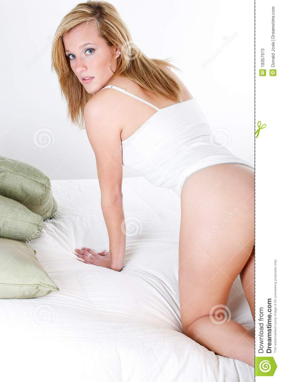 Bedside Look Stock Image Image Of Hairstyle Backside