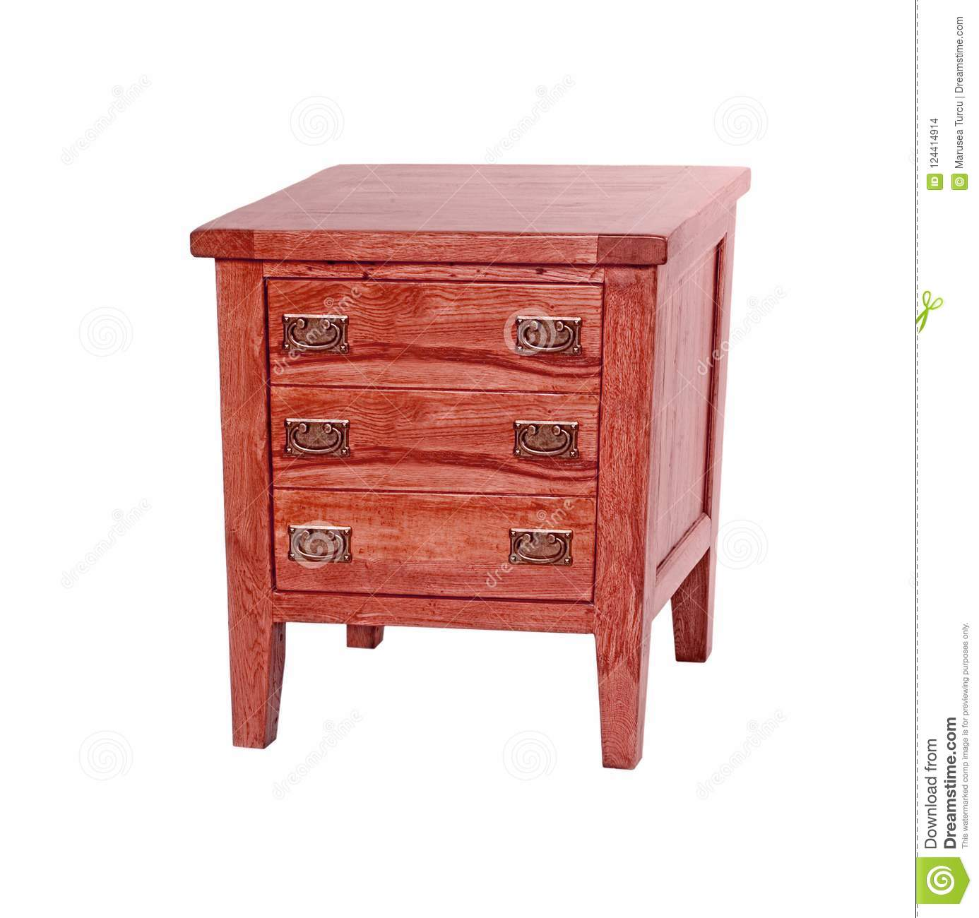 Bedside table made of wood