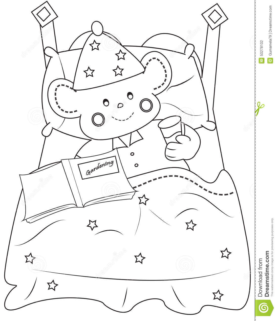 bed time coloring pages - photo #21