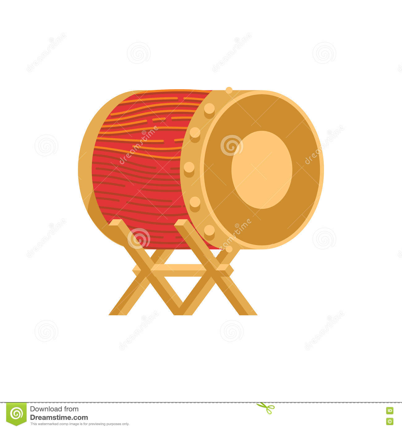 Bedug Indonesian moslem drum Royalty Free Vector Bedug