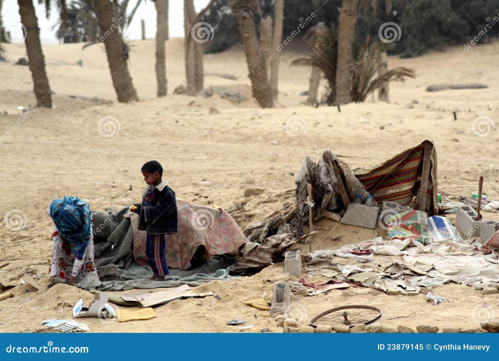 Beduinbarn utarmade egypt