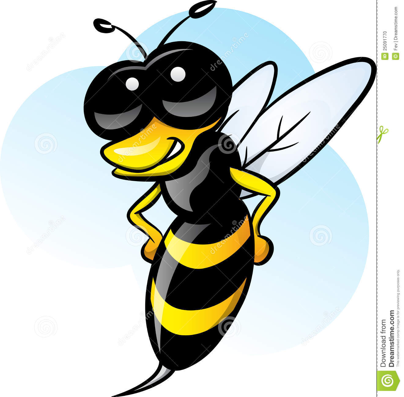 Black Bumble Bee >> Bee stock vector. Image of needle, sting, isolated, insect - 25091770