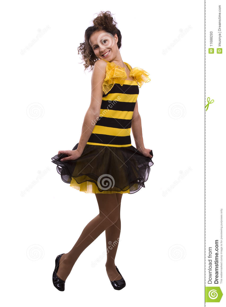 bee costumes woman. stock image. image of happiness, brown - 11688293