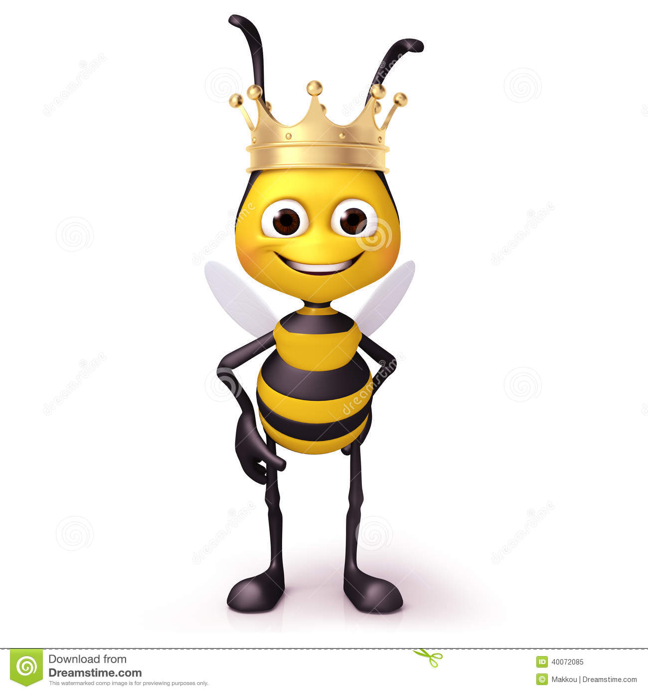 Bee With Crown Stock Illustration Image 40072085
